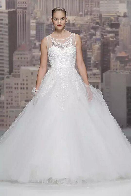 Rosa Claras White A Line Wedding Dress